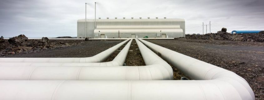 Usine géothermique en Islande, en pose longue