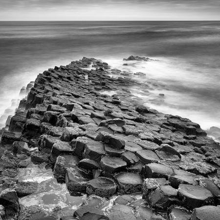 La Chaussée des Géants en Irlande du Nord, en pose longue