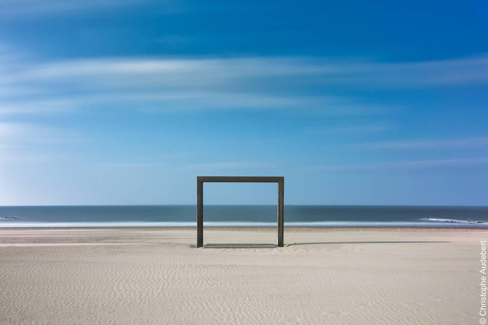 Cage de but sur la plage de Knokke le Zoute