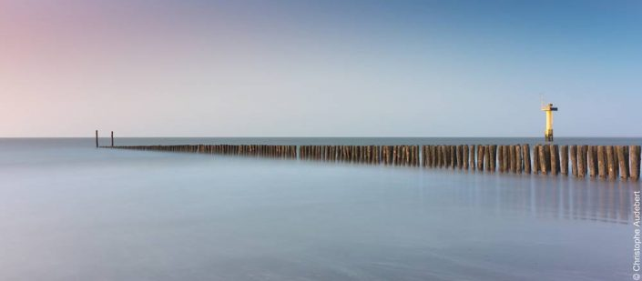 Plots dans la mer à Knokke le Zoute