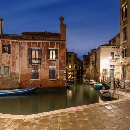 Vue pittoresque du Rio de San Pantalon à Venise