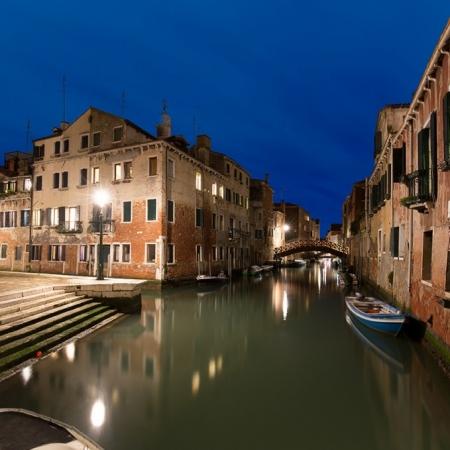 Vu de l'embarcadère du Rio de San Pantalon à Venise, Italie