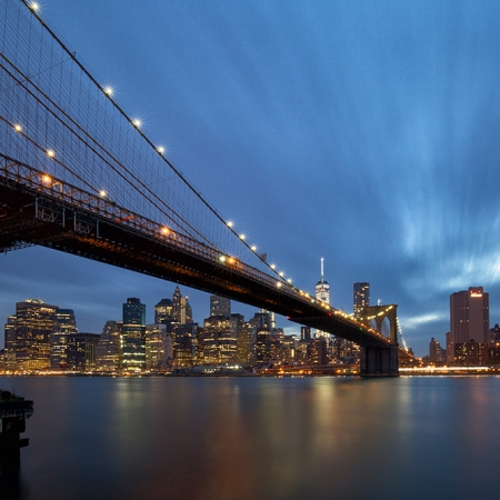 Brooklyn Bridge et Manhattan skyline - New York