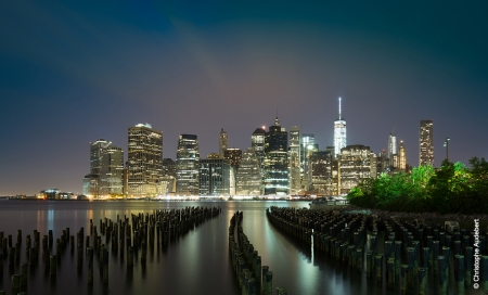 Les plots de Brooklyn Park devant la skyline de Manhattan