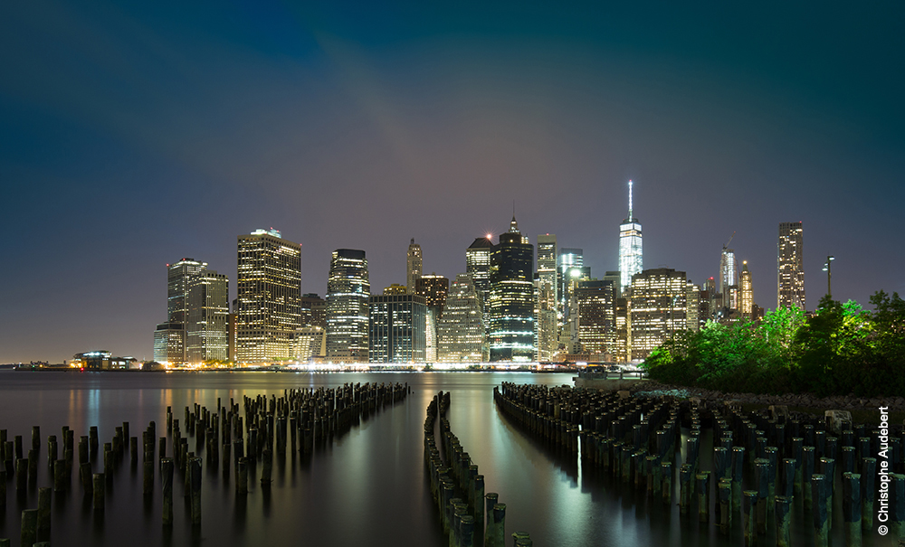 Les plots de Brooklyn Park devant la skyline de Manhattan