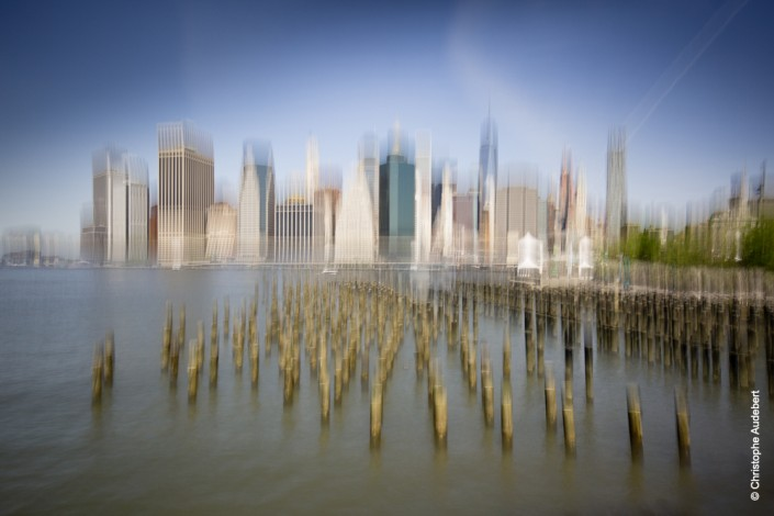 Plots de Brooklyn Park et skyline Manhattan, New York