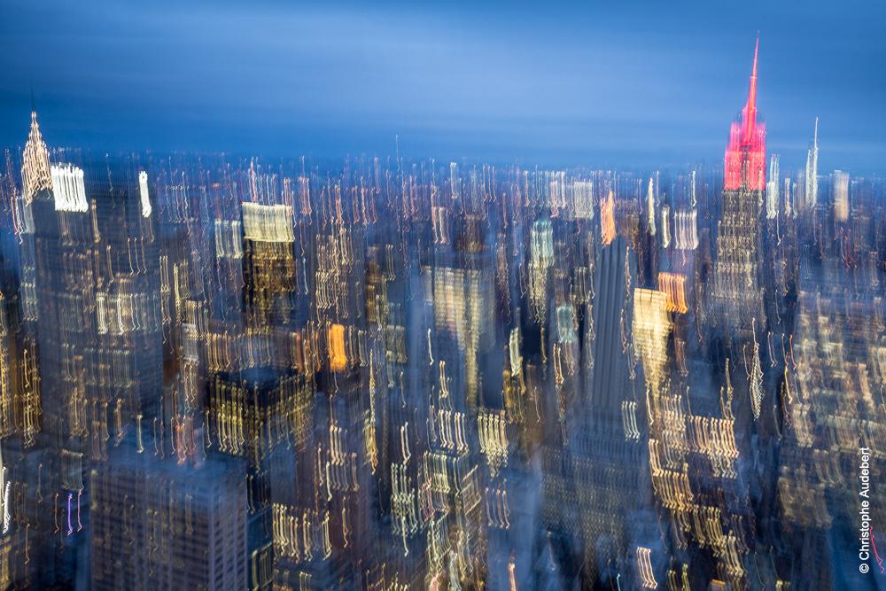Manhattan vu du Top of the Rock avec Empire State Building - New York