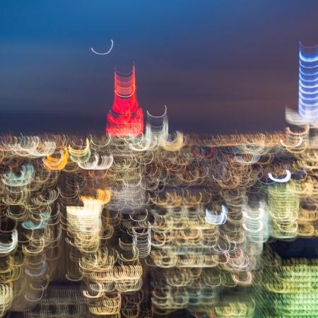 Manhattan skyline avec mouvement de caméra (ICM) - New York