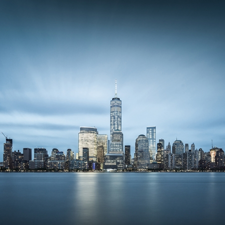 Manhattan skyline en pose longue - New York