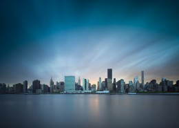 Manhattan skyline en pose longue - New York