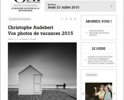 Photo de la page de Cayeux parue dans le magazine l'Oeil de la Photographie