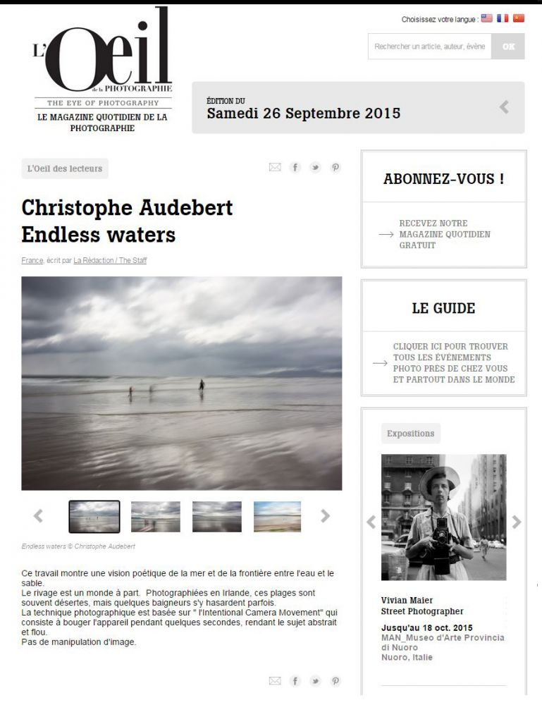 Article sur la série Endless Waters dans l'Oeil de la Photo