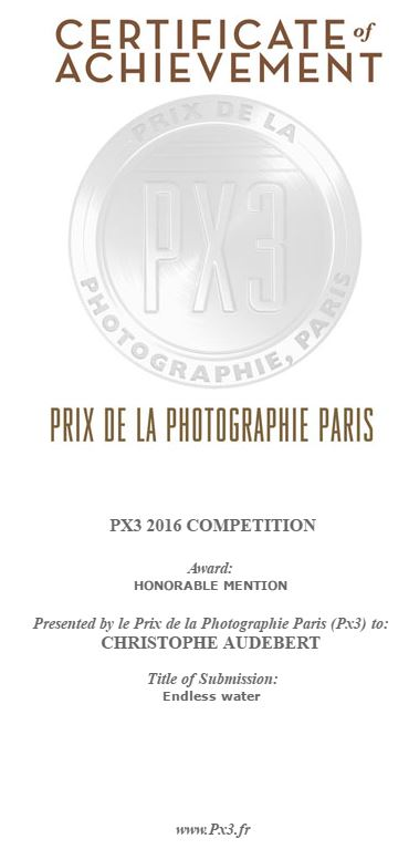 Certificate of achivement concours PX3