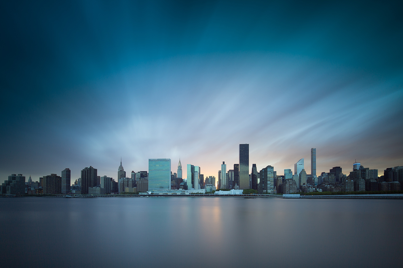 Skyline New York City en pose longue