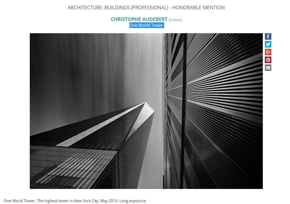 Concours IPOTY 2016 Honorable mention architecture